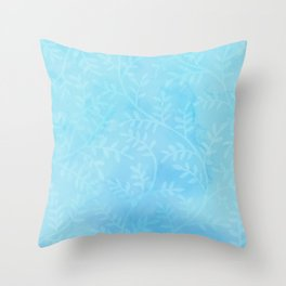 Blue Vines Throw Pillow