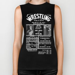 #10-B Memphis Wrestling Window Card Biker Tank