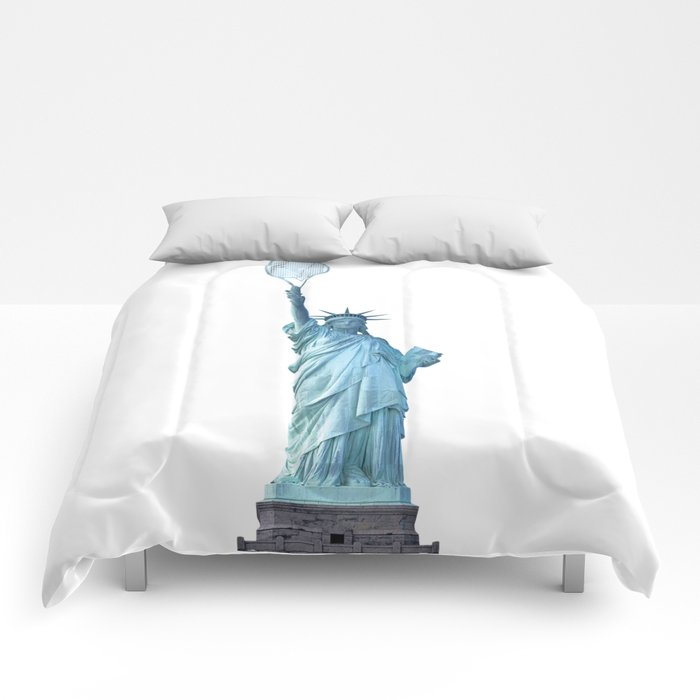 Statue of Liberty with Tennis Racquet Comforters