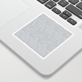 Hand Knit Light Grey Sticker