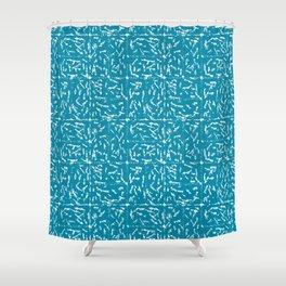 Crosshatch - Teal Shower Curtain