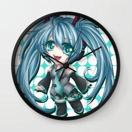 Chibi Hatsune Miku Wall Clock