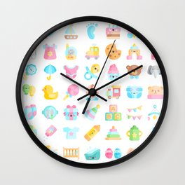 CUTE BABY PATTERN Wall Clock