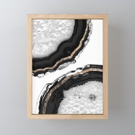Agate Glitter Glam #2 #gem #decor #art #society6 Framed Mini Art Print