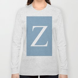Letter Z sign on placid blue background Long Sleeve T-shirt
