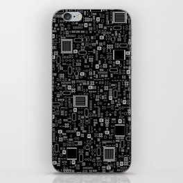 All Tech Line INVERTED / Highly detailed computer circuit board pattern iPhone Skin
