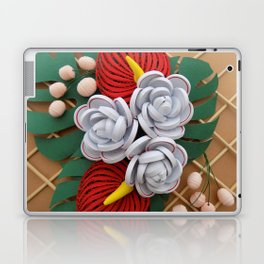 Anthurium Rose Flowers Paper Quilling Laptop & iPad Skin