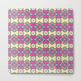 Lily Pulitzer Inspired Spanish Tiles Pattern Metal Print