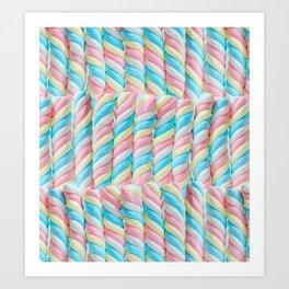 Pastel Candy Sticks Art Print