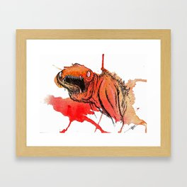 Paint Wash Monster #1 Framed Art Print
