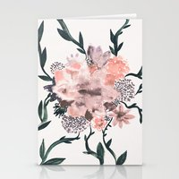 kpop Stationery Cards featuring Summer Flowers by Georgiana Paraschiv