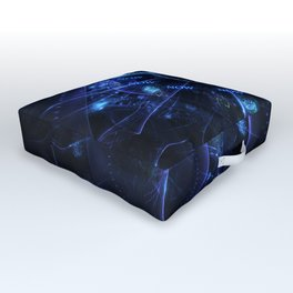 The Time is Now - Fractal - Manafold Art Outdoor Floor Cushion