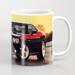 Black Challenger RT Classic with red badging and stripes Coffee Mug