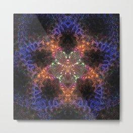 Blue Fractal Star Metal Print