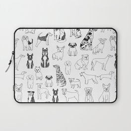 Dogs pattern minimal drawing dog breeds cute pattern gifts by andrea lauren Laptop Sleeve