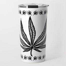 Marijuana leaf tapestry Travel Mug