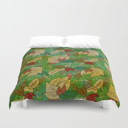 Floral, blood and thorn pattern Duvet Cover