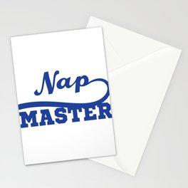 Funny Nap King T-shirt Design Nap Master Stationery Cards