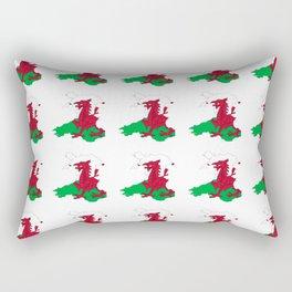 Flag of Wales 2 ,uk,great britain,dragon,cymru, welsh,celtic,cymry,cardiff,new port Rectangular Pillow