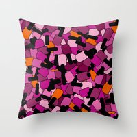 nail polish Throw Pillows featuring Nail Polish by ts55