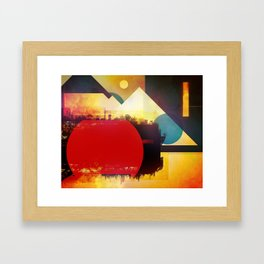 Glitch City Framed Art Print