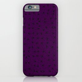 Gorgeous Dark Purple Romantic Pattern iPhone Case