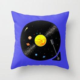 Solar System Vinyl Record Throw Pillow