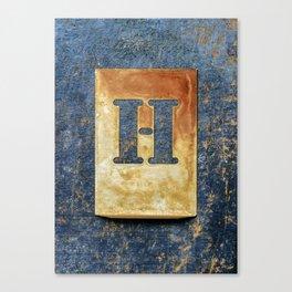 Letter H Canvas Print