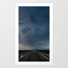 ROAD TO NOWHERE - ICELAND Art Print