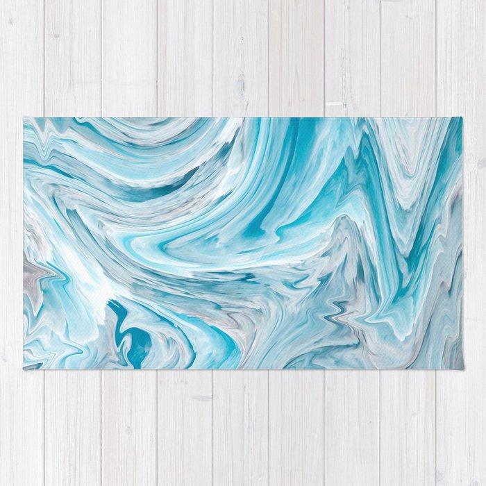Icy Blue - Liquify Series Rug