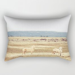 Two Oregon Horses Rectangular Pillow