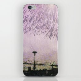 Tendrils over Seattle iPhone Skin