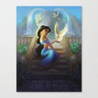 jasmine Canvas Prints featuring Jasmine by KATIE PAYNE