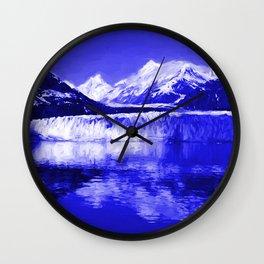 Glacier Bay Blue Wall Clock