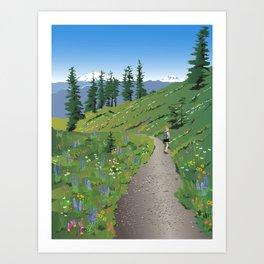 Silver Star Mountain Art Print