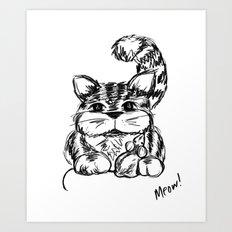 Unlikely Friends :: Cat & Mouse Art Print