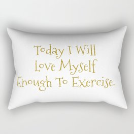 Love Myself Motivational Print Rectangular Pillow