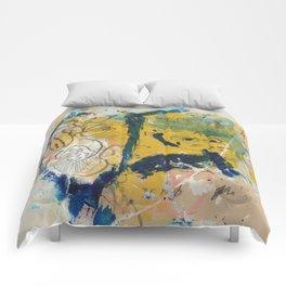 blue cat home Comforters