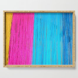 Color Strings Serving Tray