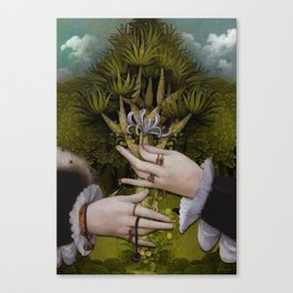 """""""The hands of Bosch and the Spring"""" Canvas Print"""