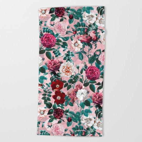 Summer Botanical Garden X Beach Towel