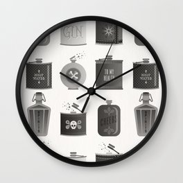 Flask Collection – Black Palette Wall Clock