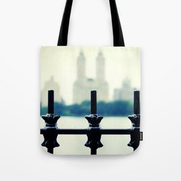 NYC Central Park Two Towers, New York City, Manhattan Tote Bag