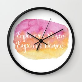 Empowered Women, Empower Women Wall Clock