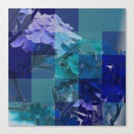 Purple And Blue Tiled Verbena Canvas Print