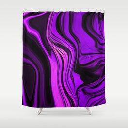 Purple Abstract Desgn Artwork Shower Curtain