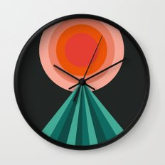 Way Decent - 70s retro throwback minimal sun california socal 1970's style Wall Clock