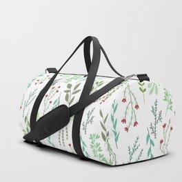 Small leaves print Duffle Bag