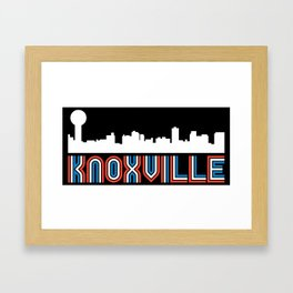 Red White Blue Knoxville Tennessee Skyline Framed Art Print