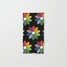 Flower pattern based on James Ward's Chromatic Circle (vintage wash) Hand & Bath Towel